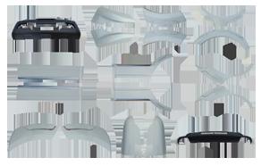 Пластиковые обвесы для авто из Китая