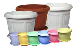 Пластиковые горшки для цветов из Китая