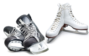 Фигурные и хоккейные коньки из Китая